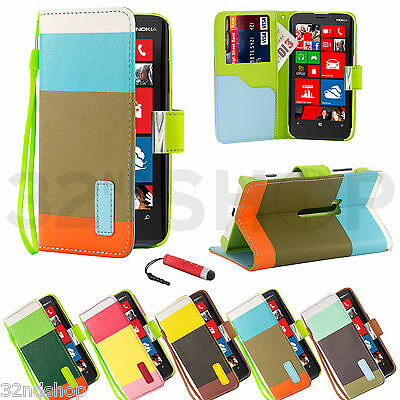 Stand Wallet Pu Leather Case Cover For Nokia Lumia 920 Free Screen Protector
