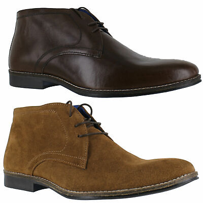 Mens Red Tape Elstow Leather Lace Up Desert Chukka Ankle Boots Sizes 7 to 12
