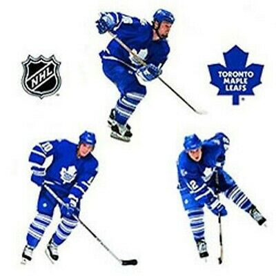11pc TORONTO MAPLE LEAFS WALL STICKERS SET - Ice Hockey Team Logo Players Decals