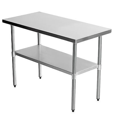 """36""""x24"""" Commercial Stainless Steel Kitchen Work Table  Bench Catering 3FTx2FT"""