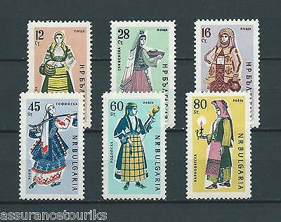 BULGARIE - 1961 YT 1044 à 1049 - TIMBRES NEUFS** MNH LUXE