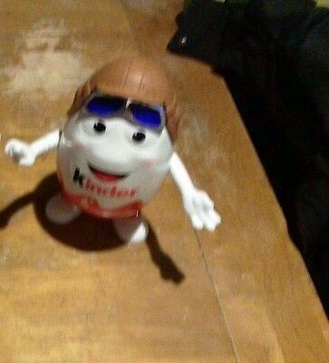 """Collectable Kinder Surprise Jumbo Large Big Doll Egg 9.5"""" Empty Aviator Cap toy"""