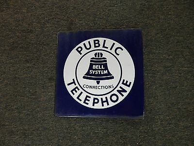 """#23C Public Telephone Bell System Connections  Flange Sign Double Sided 11"""""""