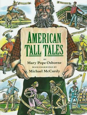 American Tall Tales by Mary Pope Osborne (English) Hardcover Book Free Shipping!
