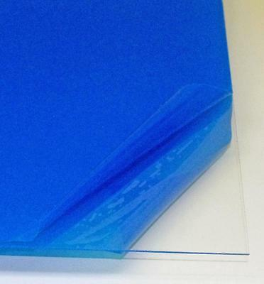 "Clear Acrylic Plexiglass Sheet 12"" x 12"" x 1/16"" (1.5mm) Plastic Perspex"