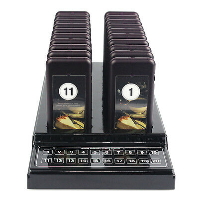 Hot! 20 Restaurant Coaster Pager Guest Call Wireless Paging Queuing System New Y