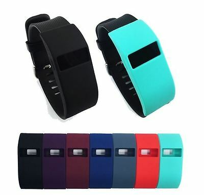 Hellfire Trading Sleeve Case Band Wrap Cover Protective For Fitbit Charge HR