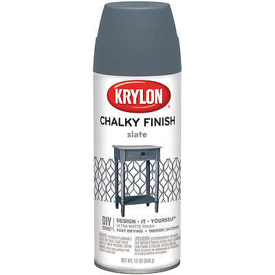 """Chalky Finish Aerosol Spray Paint 12oz-Slate, Set Of 2"""