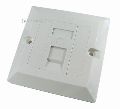 SINGLE 1 Port Way Gang Wall Face Plate RJ45 Network Ethernet Faceplate Cat5e