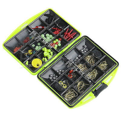 Assorted Tackle Box Lure Baits Jig Swivels Clamp Hooks Fishing Fish Accessories