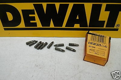 "10 X LOOSE DEWALT 1/4"" HEX  X PZ2 X 25mm SCREWDRIVER BITS DT7908"