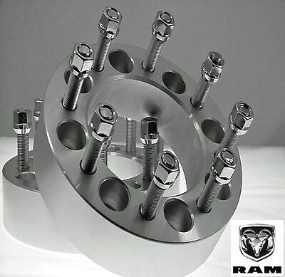 "2 Pc Dodge 2012-2018 Ram 2500 3500 Dually 2.00"" Wheel Spacers Adapters 8650E1415"