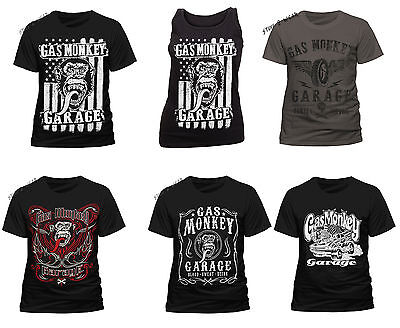 OFFICIAL Gas Monkey Garage T Shirt Mens Womens Vest Fast n Loud Cars New Classic