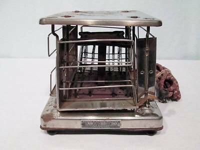 Antique Vintage Toaster Estate Stove Hamilton #77 4 Slice Swing Reverse Works