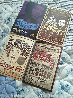 Set Of Four Rare Jimi Hendrix Postcards Official Item