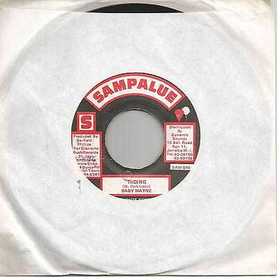 "Baby Wayne - Riding (Sampalue) Reggae 7"" Vg+"