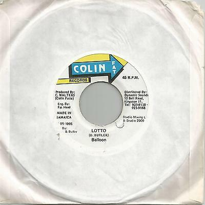 "Balloon - Lotto (Colin Fat Records) Reggae 7"" Vg+"
