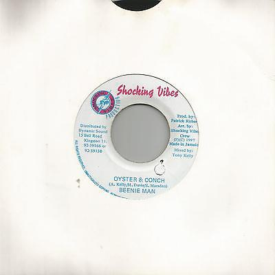 """Beenie Man - Oyster And Conch (Shocking Vibes) Reggae 7"""" Vg+"""