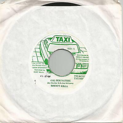 "Bounty Killa - Gal Dem Nature (Taxi) Reggae 7"" Vg+"