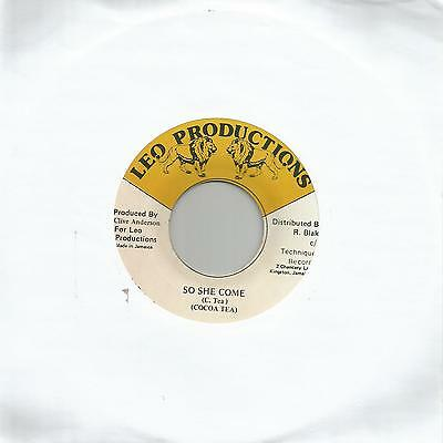 "Cocoa Tea - So She Come (Leo Productions) Reggae 7"" Ex"