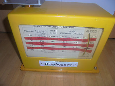 25894 Deutsche Post DDR Waage Emailleschilder komplett office balance 1967