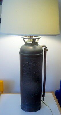 VTG 1930s GENERAL PACIFIC LOS ANGELES Copper Fire Extinguisher Industrial Lamp