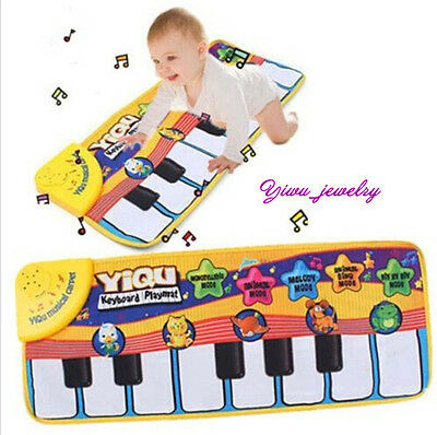 Musical Baby PlayMat Gym Activity Blanket Toy Game Carpet Floor Piano Toy Pad YZ