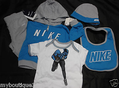 Nike Baby Boys 5 Pcs Set Active Set 3/6 Months New New With Tag