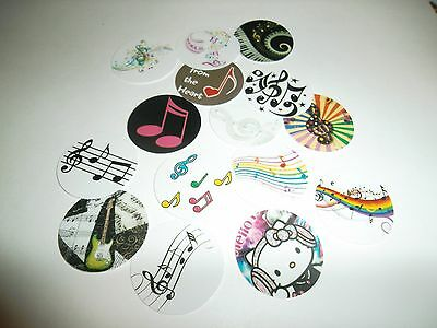 MUSIC MUSICAL NOTES FREE SHIP Pre Cut One Inch Bottle Cap Images