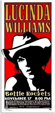 Lucinda Williams Original Concert Tour Poster Signed Numbered by Print Mafia