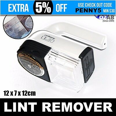 Portable Jumbo Lint Pilling Fluff Remover / Shaver with Accessories Jumbo Lint R