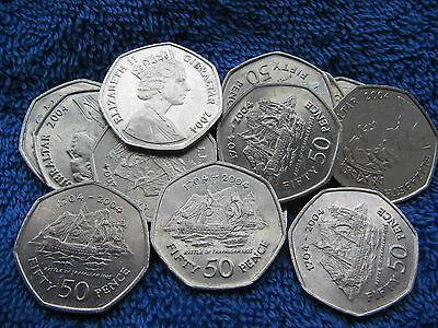 1704-2004 Gibraltar Battle Of Trafalgar 50p Coin Rare Collectable Free UK post