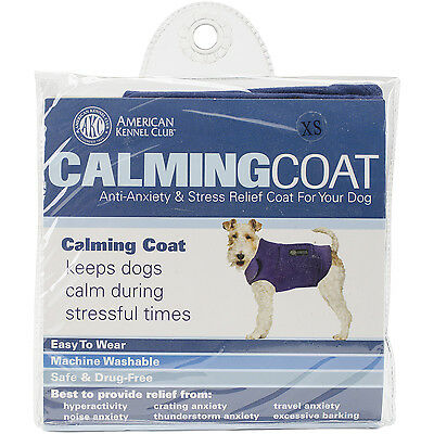 """""""Calming Coat Extra Small 13""""""""-18"""""""" Chest-Navy"""""""