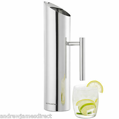 Andrew James Water Pitcher Jug Carafe In Stainless Steel With Ice Guard