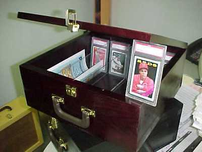 Graded baseball Card Storage Case for Graded & ungraded cards PSA Beckett CHERRY