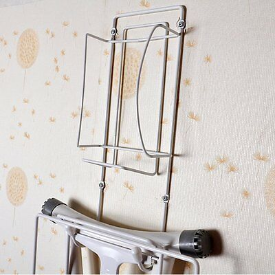 Wall Mount Ironing Board Holder Hook Rack Steel Storage Laundry Room Organizer