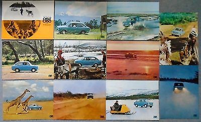 Fiat 850 Berlina Test Original Boxed Set of 10 Colour Print Small Poster 38 x 28