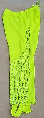 ACCLAIM Athens Fluo Yellow Medium Running Fitness Reflective Leggings