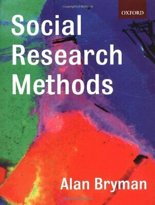 Social Research Methods by Bryman, Prof. Alan Paperback Book The Cheap Fast Free