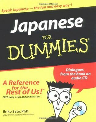 Japanese For Dummies by Sato, Eriko Paperback Book The Cheap Fast Free Post