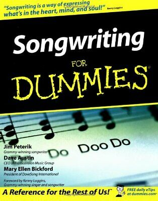 Songwriting for Dummies by Bickford, Mary Ellen Paperback Book The Cheap Fast