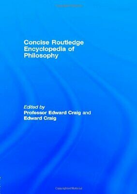 Concise Routledge Encyclopedia of Philosophy Hardback Book The Cheap Fast Free