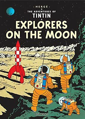 Explorers on the Moon by Herg� Paperback Book The Cheap Fast Free Post
