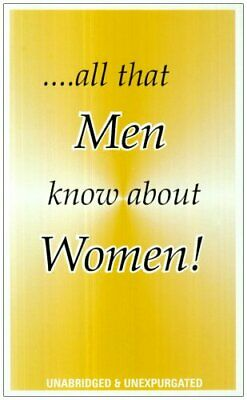 All That Men Know About Women by Smith, Abdul Paperback Book The Cheap Fast Free