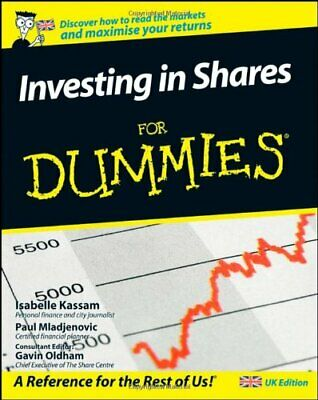 Investing in Shares for Dummies, UK Edition by Paul Mladjenovic Paperback Book