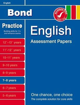 Bond English Assessment Papers 7-8 years by Lindsay, Sarah Book The Cheap Fast