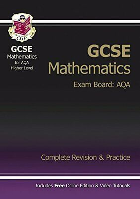 GCSE Maths AQA Complete Revision & Practice with online edition ... by CGP Books