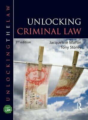 Unlocking Criminal Law (UNTL) by Storey, Tony Paperback Book The Cheap Fast Free
