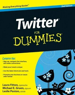 Twitter For Dummies by Poston, Leslie Paperback Book The Cheap Fast Free Post