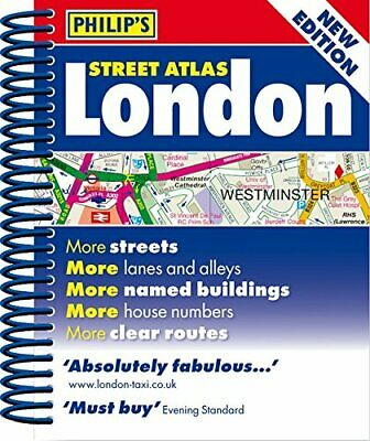 Philip's Street Atlas London: Mini Spiral Edition by Philip's Maps Book The